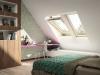 Velux Standard Plus - felső kilincses fa tetőtéri ablak